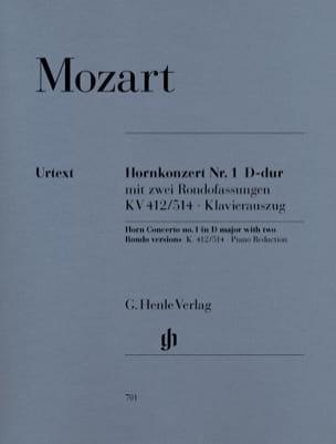 Hornkonzert Nr. 1 D-Dur KV 412/514 MOZART Partition Cor - laflutedepan
