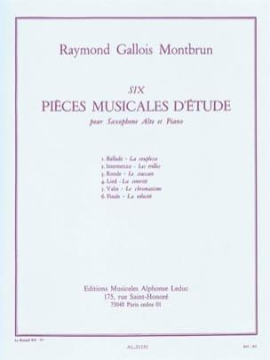 Raymond Gallois-Montbrun - 6 Music pieces of study - Partition - di-arezzo.com