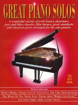 Great piano solos - The red book - Partition - di-arezzo.com