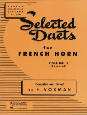 Selected Duets Volume 2 - Voxman - Partition - Cor - laflutedepan.com
