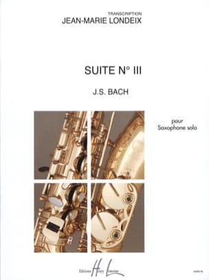 Suite N° 3 BACH Partition Saxophone - laflutedepan
