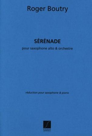 Sérénade Roger Boutry Partition Saxophone - laflutedepan