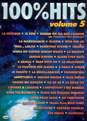 100% hits volume 5 Partition Chanson française - laflutedepan