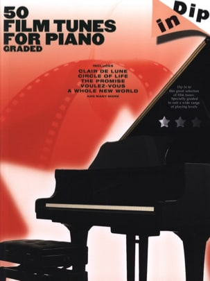 50 Film Tunes For Piano Graded - Dip In Partition laflutedepan