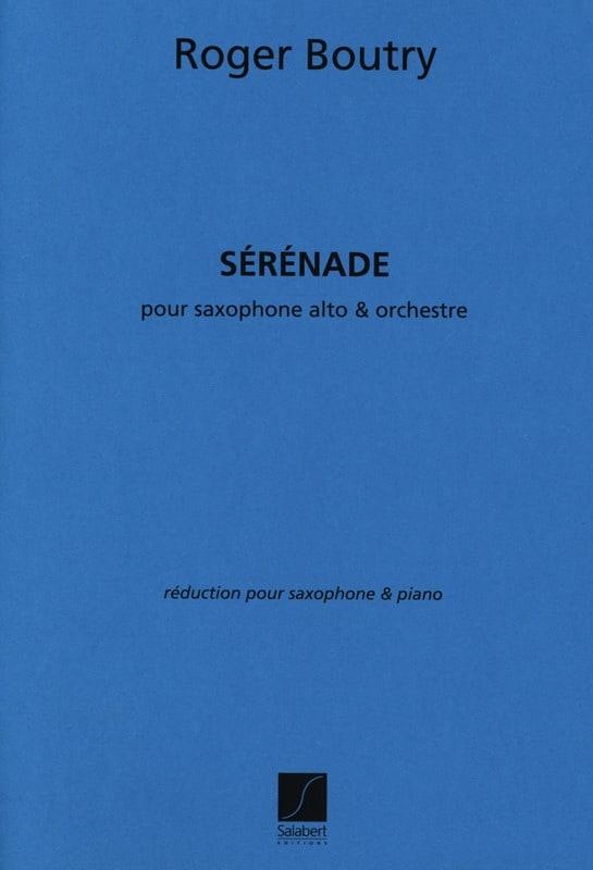 Sérénade - Roger Boutry - Partition - Saxophone - laflutedepan.com