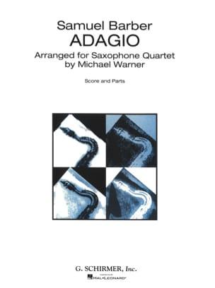 Adagio - Quatuor de Saxophones BARBER Partition laflutedepan