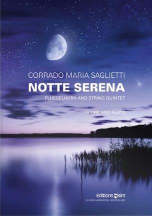 Notte serena Corrado Maria Saglietti Partition Sextuors - laflutedepan