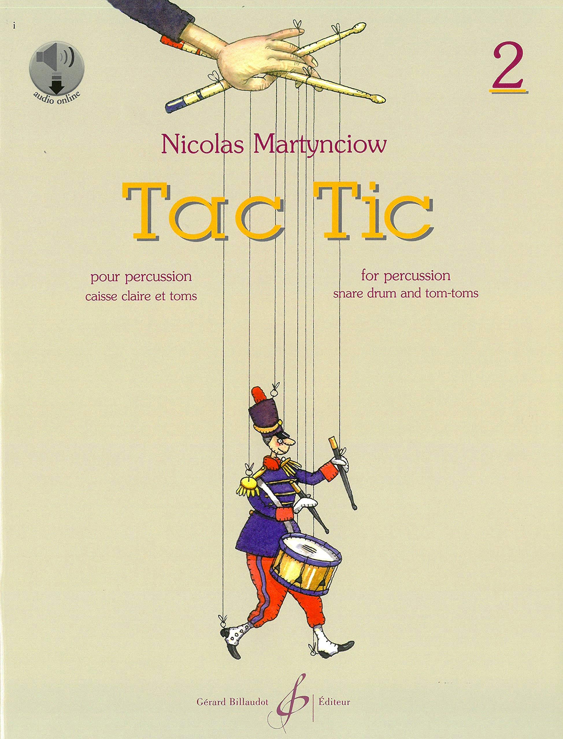 Tac Tic Volume 2 - Nicolas Martynciow - Partition - laflutedepan.com