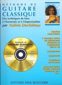 Méthode de guitare classique Valérie Duchateau Partition laflutedepan