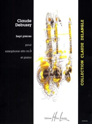 7 Pièces DEBUSSY Partition Saxophone - laflutedepan