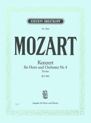 Concerto pour cor Nr. 4 Es-Dur K.V. 495 MOZART Partition laflutedepan