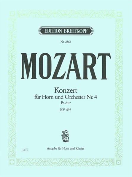 Concerto pour cor Nr. 4 Es-Dur K.V. 495 - MOZART - laflutedepan.com