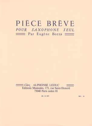 Pièce Brève Eugène Bozza Partition Saxophone - laflutedepan