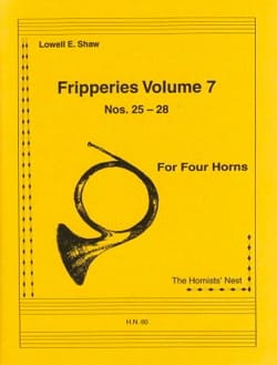 Fripperies Volume 7 N° 25-28 Lowell E. Shaw Partition laflutedepan