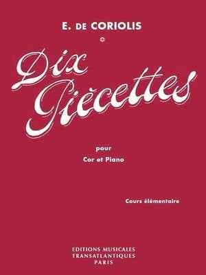 Dix Piècettes. Cor - Emmanuel De Coriolis - laflutedepan.com