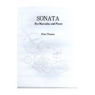 Sonata Peter Tanner Partition Marimba - laflutedepan