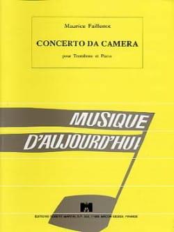 Concerto Da Camera Maurice Faillenot Partition Trombone - laflutedepan