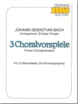 3 Choralvorspiele - BACH - Partition - laflutedepan.com