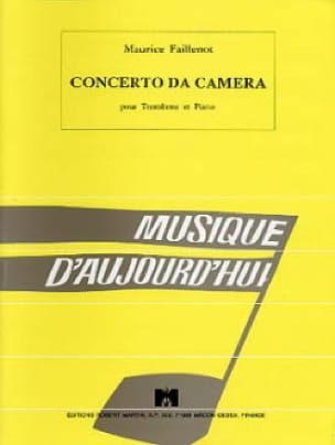 Concerto Da Camera - Maurice Faillenot - Partition - laflutedepan.com