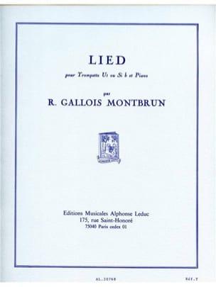 Raymond Gallois-Montbrun - Lied - Partition - di-arezzo.com