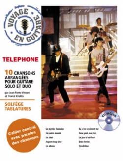 Voyage En Guitare Téléphone Partition Chanson française - laflutedepan