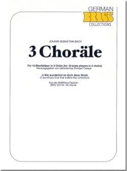 3 Choräle BACH Partition Ensemble de cuivres - laflutedepan
