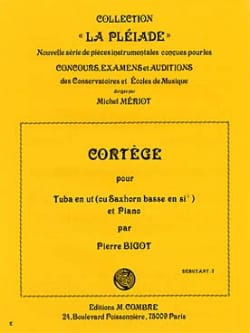 Cortège Pierre Bigot Partition Tuba - laflutedepan