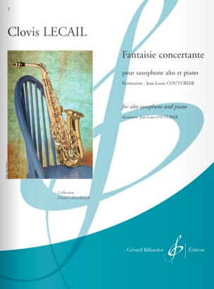 Fantaisie Concertante Clovis Lecail Partition Saxophone - laflutedepan