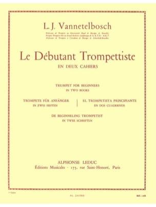 Débutant Trompettiste Volume 1 Vannetelbosch Partition laflutedepan