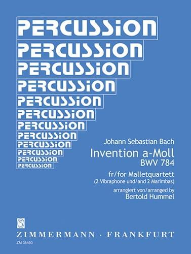 Invention A-Moll BWV 784 For Mallet Quartet - BACH - laflutedepan.com