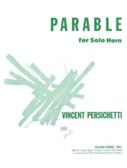 Parable 8 opus 120 Vincent Persichetti Partition Cor - laflutedepan