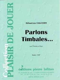 Parlons Timbales... Sébastien Calcoen Partition laflutedepan