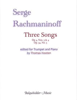 Three Songs for trumpet and piano RACHMANINOV Partition laflutedepan