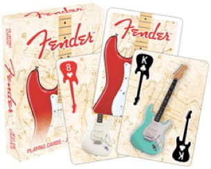 Jeu de Cartes - Fender Stratocaster - Jeu Musical - laflutedepan.com