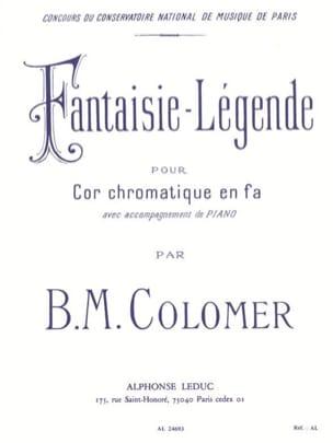 Fantaisie Légende B.M. Colomer Partition Cor - laflutedepan