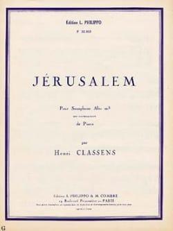 Jérusalem CLASSENS Partition Saxophone - laflutedepan