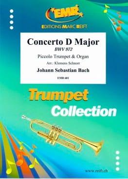 Concerto en Ré Majeur - BWV 972 BACH Partition laflutedepan