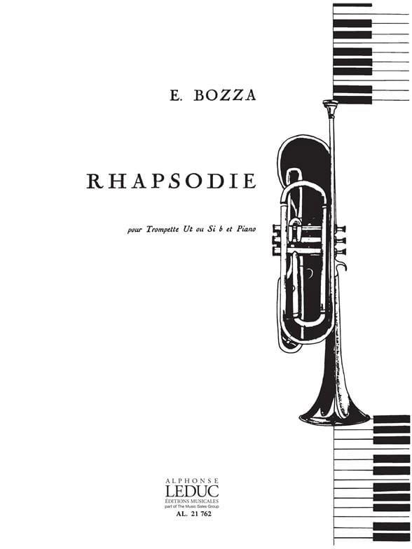 Rhapsodie - Eugène Bozza - Partition - Trompette - laflutedepan.com