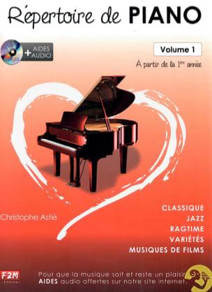 Répertoire de Piano Volume 1 Christophe Astié Partition laflutedepan