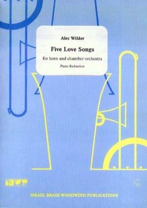 Five Love Songs - Alec Wilder - Partition - Cor - laflutedepan.com