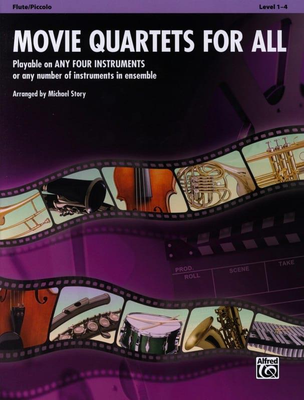Movie quartets for all - Partition - laflutedepan.com