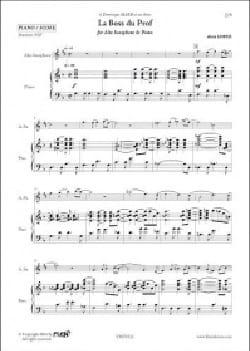 La Boss du Prof Alain Lopez Partition Saxophone - laflutedepan