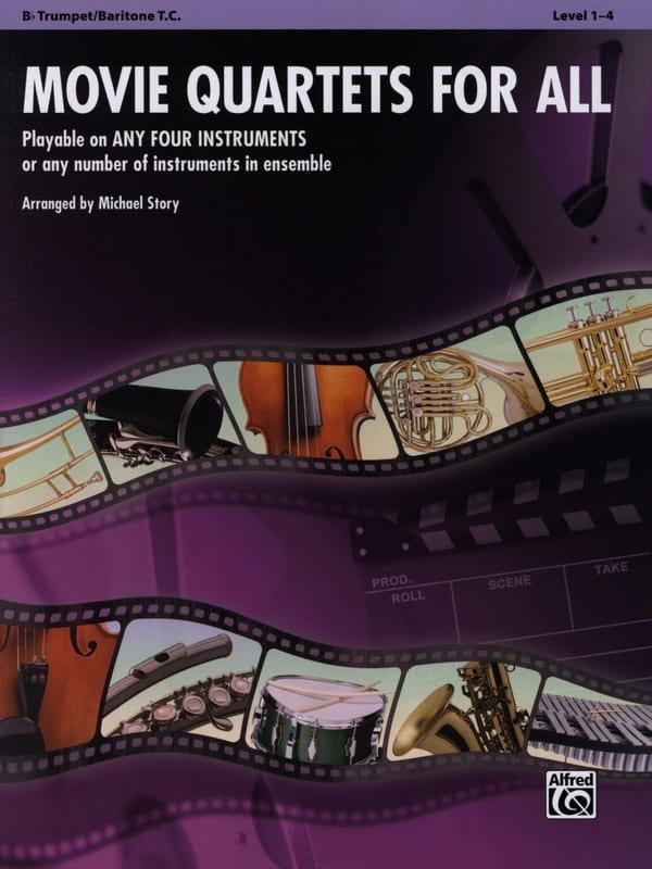 Movie quartets for all - Partition - Trompette - laflutedepan.com