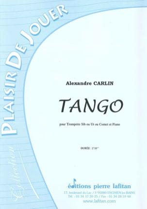 Tango Alexandre Carlin Partition Trompette - laflutedepan