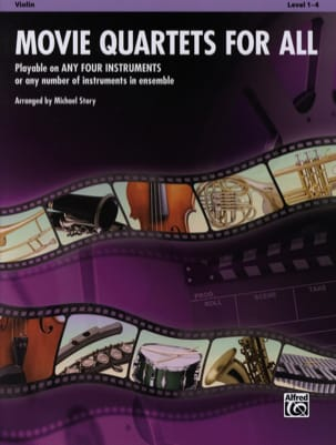 Movie quartets for all Partition Violon - laflutedepan