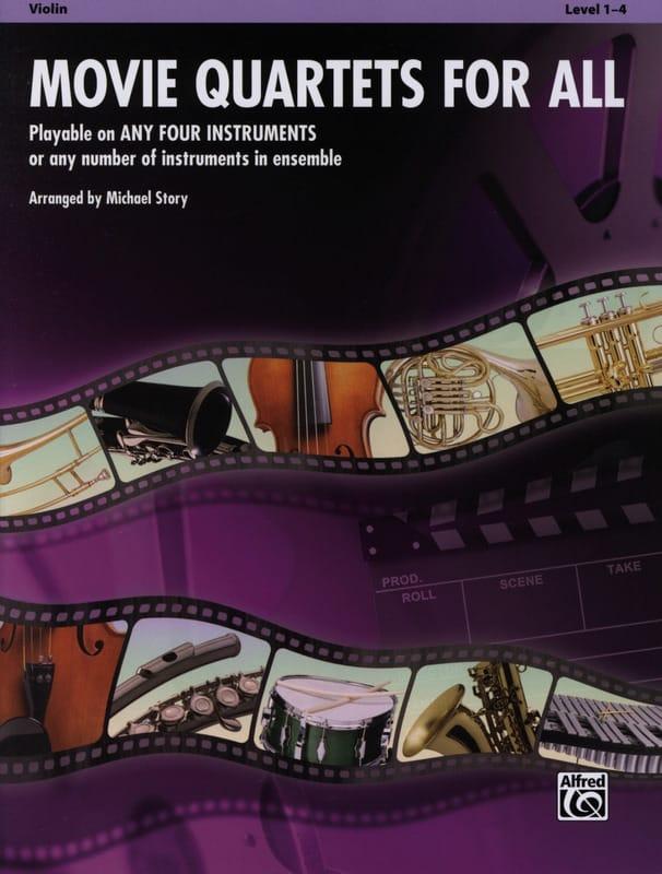 Movie quartets for all - Partition - Violon - laflutedepan.com