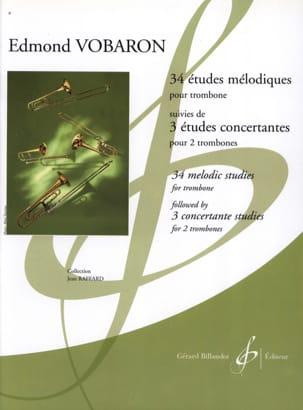 34 Etudes Mélodiques Trb / 3 Etudes Concertantes 2 Trbs - laflutedepan.com
