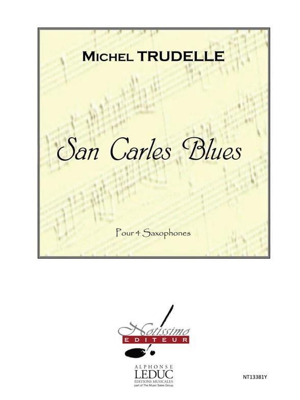 San carles blues - Michel Trudelle - Partition - laflutedepan.com