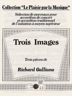 Trois Images Richard Galliano Partition Accordéon - laflutedepan