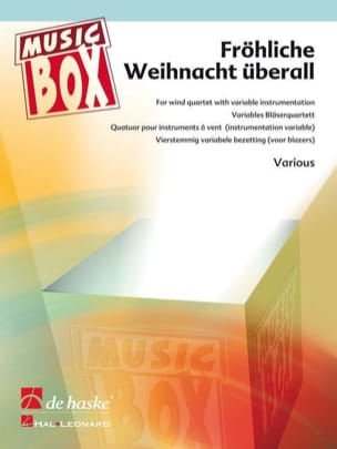 Frohliche weihnacht uberall - music box Partition laflutedepan